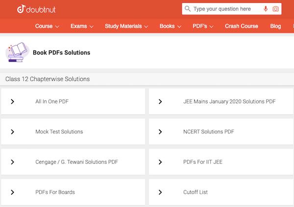 Doubtnut PDF Solution Download