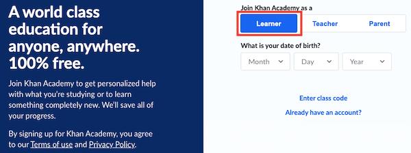 Learner Account