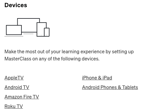 Master Class Devices Setting
