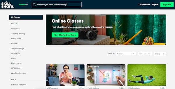 Skillshare Learning Platform