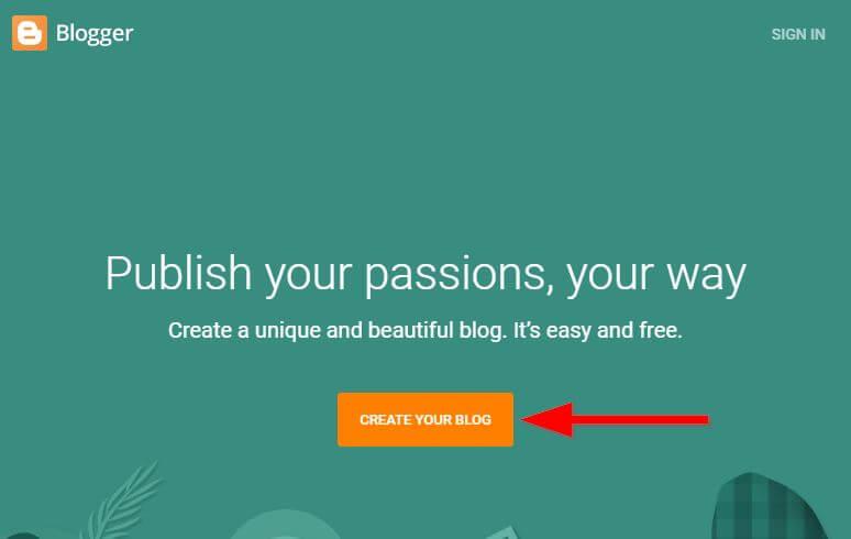 New Blog Creare on blogger.com