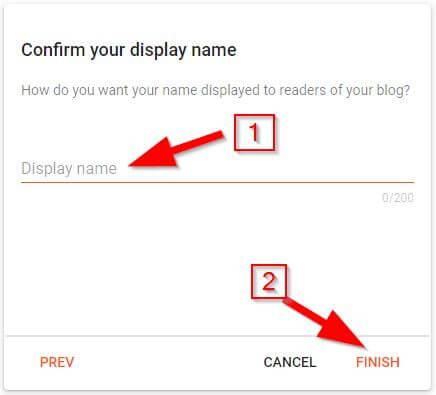 Create Blog on Blogger: Step 3