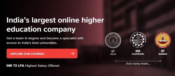UpGrad Online Learning Platform in Hindi