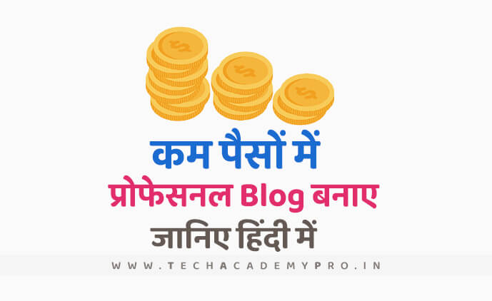 Start Professional Blog in Very Low Cost