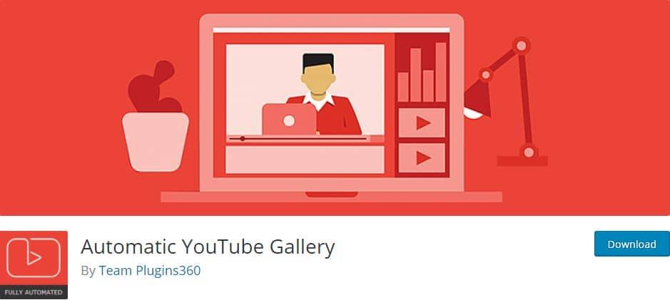 Automatic YouTube Gallery WordPress plugin