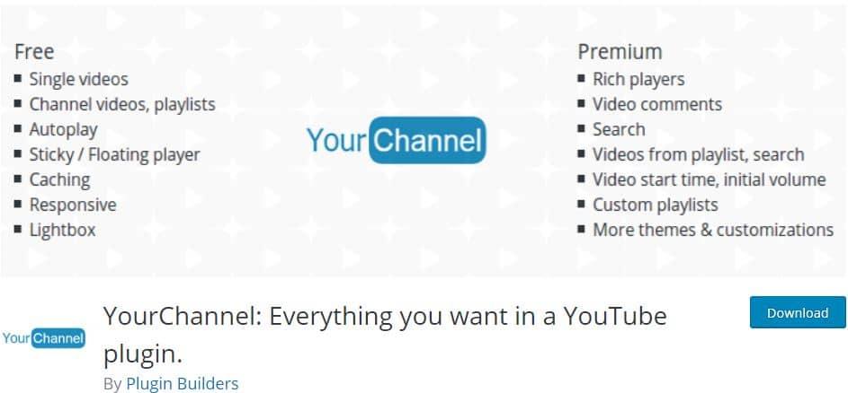 YourChannel Video Gallery WordPress plugin
