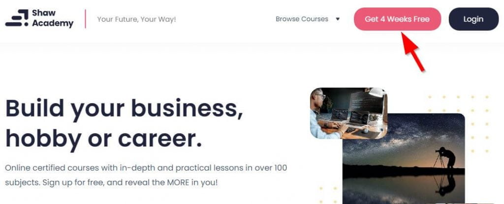 How to Get Free Courses in Shaw Academy