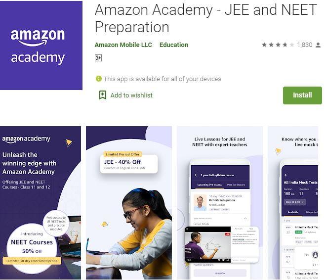 Amazon Academy JEE and NEET Preparation App