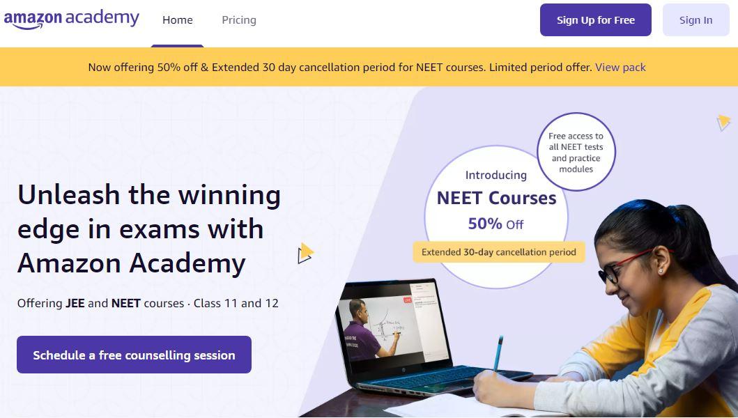 Amazon Academy Learning Portal in Hindi