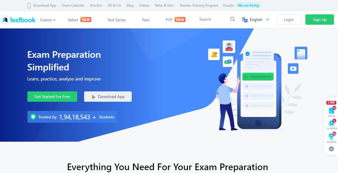 TestBook Govt Exam Preparation Site