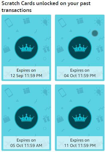 Amazon Rewards Scratch Cards