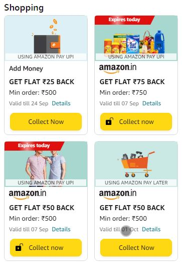 Amazon Rewards Shopping Offers